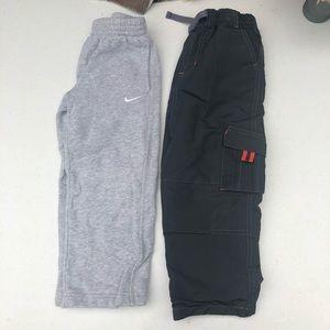 Bundle 2 Nike Boys 4T Warm Pants